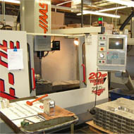 "Precision milling on a range of 4-axis HAAS vertical CNC machining centers with travels up to 20"" x 50"" x 25"""