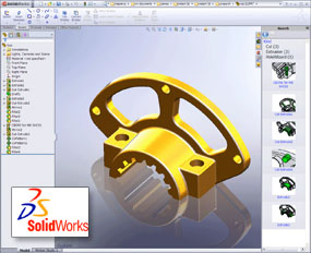 In-house design work is done using state of the art SolidWorks 3D solid modeling software.